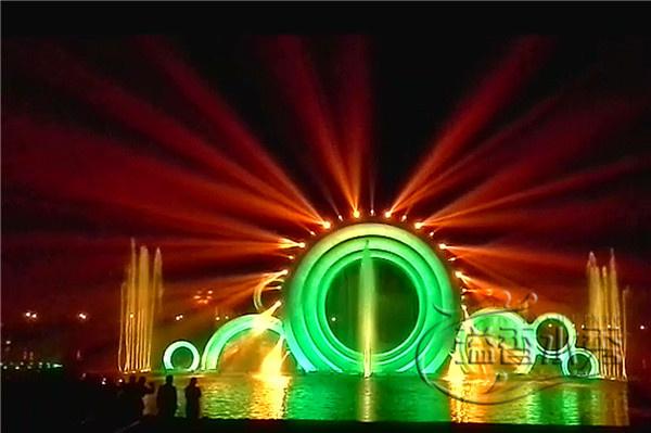 洛阳音乐喷泉公司_郑州激光水秀施工_溢香园林景观工程设计