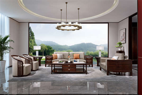 洛阳新中式家具_河南轻奢家具_实木家具价格