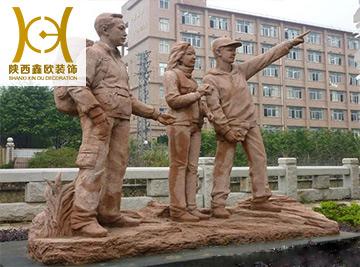 陕西园林景观雕塑设计_景观园林定制